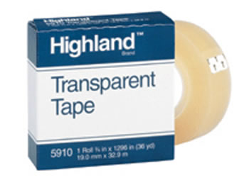 TAPE HIGHLAND TRANSPARENT 3/4X1296