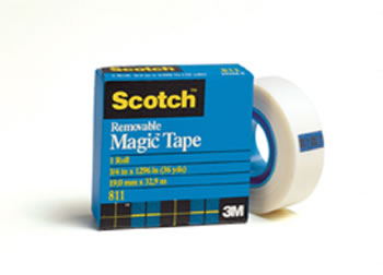 TAPE REMOVABLE MAGIC 3/4 X 36 YDS
