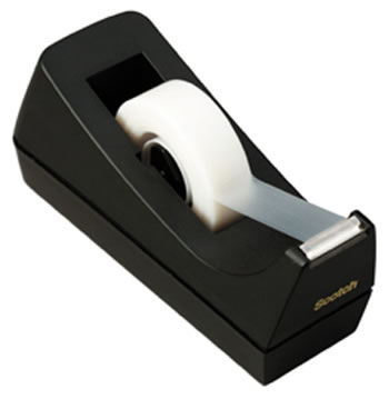 DISPENSER TAPE BLACK SINGLE ROLL