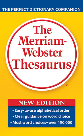 MERRIAM WEBSTERS THESAURUS PAPERBCK