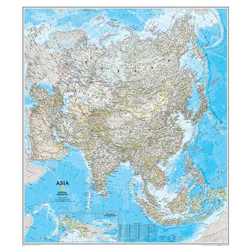 ASIA WALL MAP 34 X 38