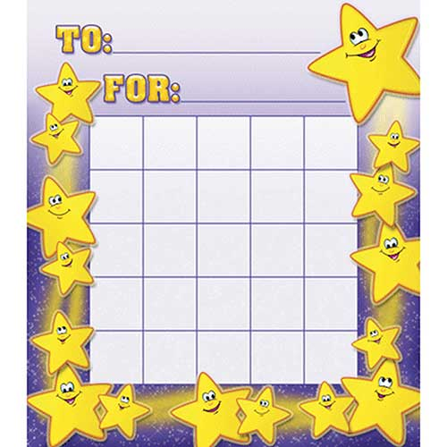 SMILEY STARS MOTIVATIONAL CHARTS