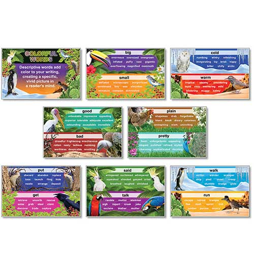 COLORFUL WORDS BB SET 8 PCS 11 X 17