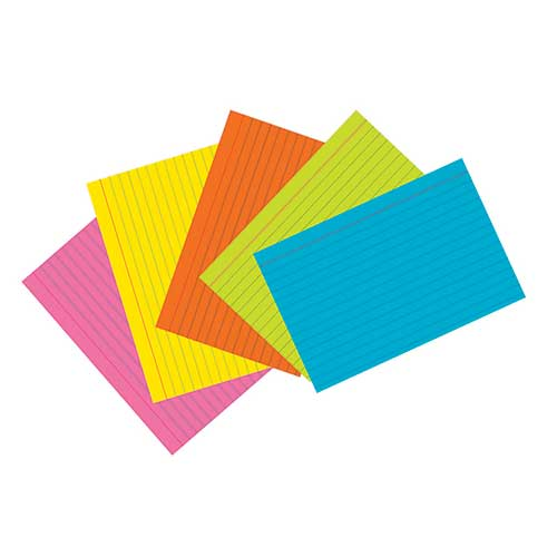 SUPER BRIGHT INDEX CARDS 4X6 RULED
