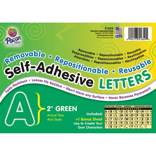 SELF ADHESIVE LETTER 2IN GREEN