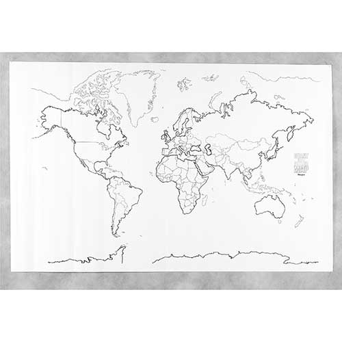 Maps map skills giant world map 48in x 72in sciox Image collections