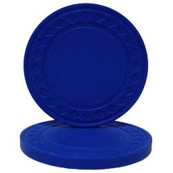Blue Plastic Chips pkg. 10