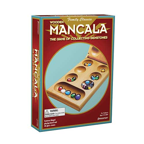 MANCALA AGES 6 TO ADULT 2 PLAYERS