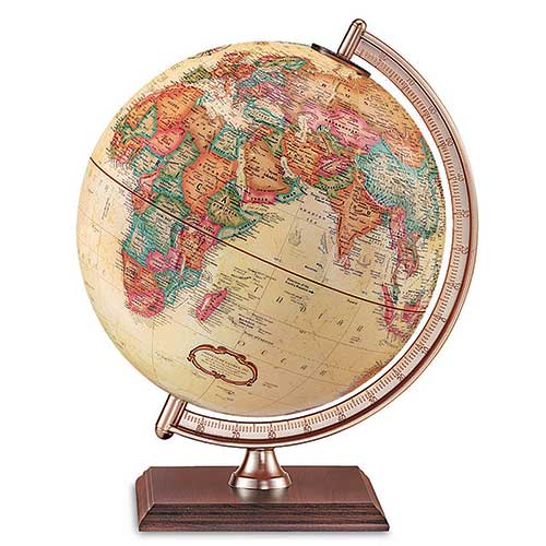 THE FORRESTER GLOBE ANTIQUE FINISH