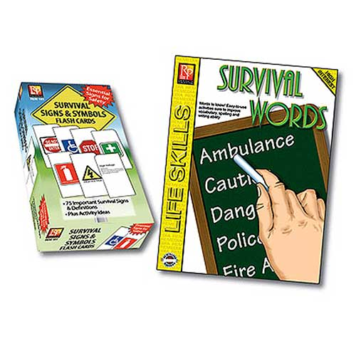 SURVIVAL SIGNS SYMBOLS FLASH CARDS
