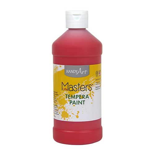 LITTLE MASTERS RED 16OZ TEMPERA