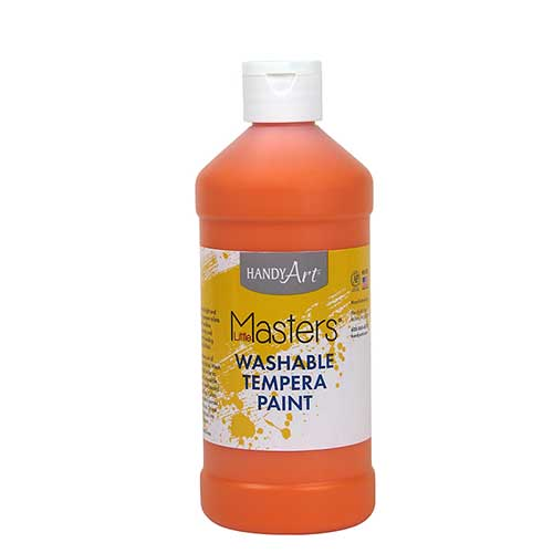 LITTLE MASTERS ORANGE 16OZ WASHABLE