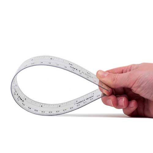Ruler flexible plastic  12in / 30cm