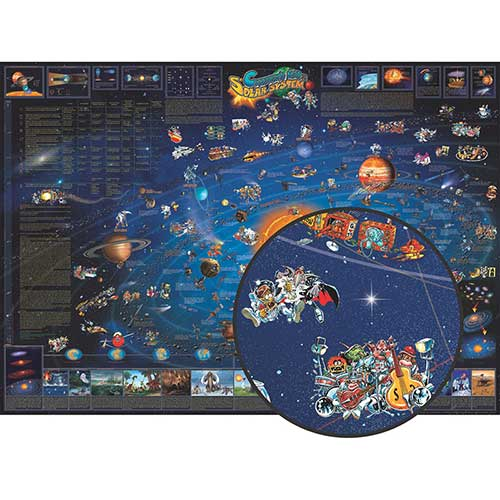 CHILDRENS MAP OF THE SOLAR SYSTEM