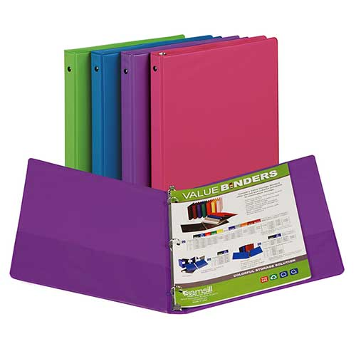 FASHION COLOR BINDER 1/2IN CAPACITY