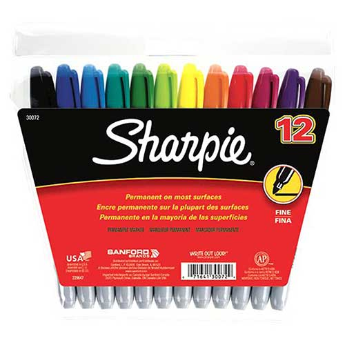 SANFORD SHARPIE FINE 12-COLOR SET