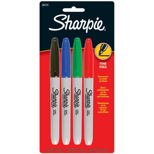 SHARPIE FINE 4 COLOR SET CARDED