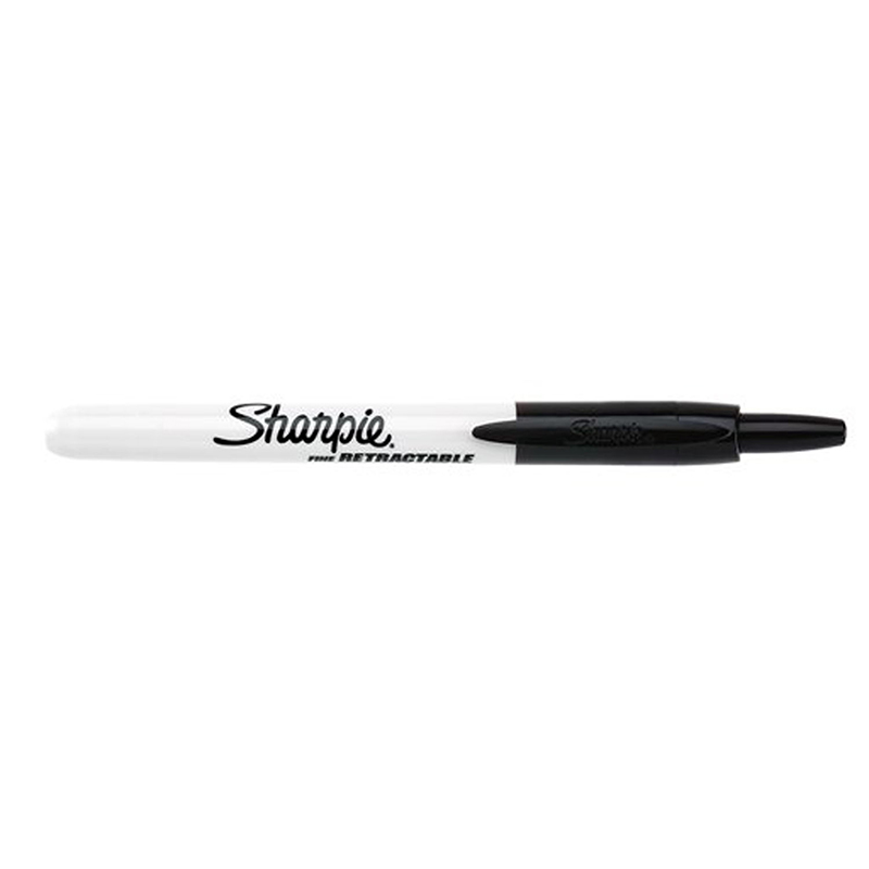 SHARPIE RETRACTABLE FINE POINT BLK