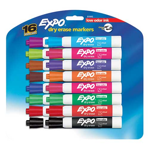 EXPO LOWODOR DRY ERASE 16 COLOR