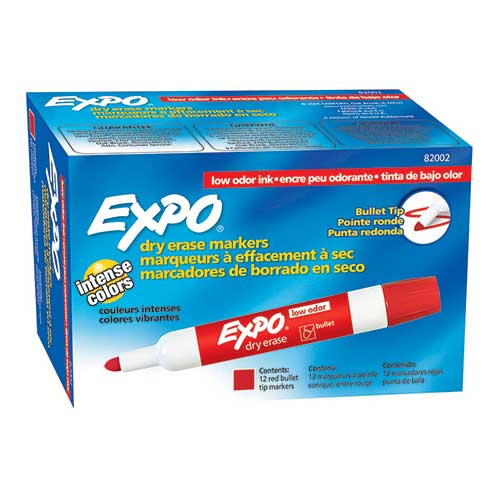 EXPO DRY ERASE MARKERS BULLET TIP