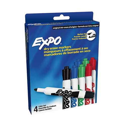 MARKER SET EXPO DRYERASE 8 COUNT