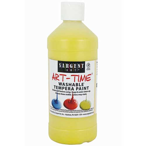 WASHABLE TEMPERA YELLOW 16 OZ