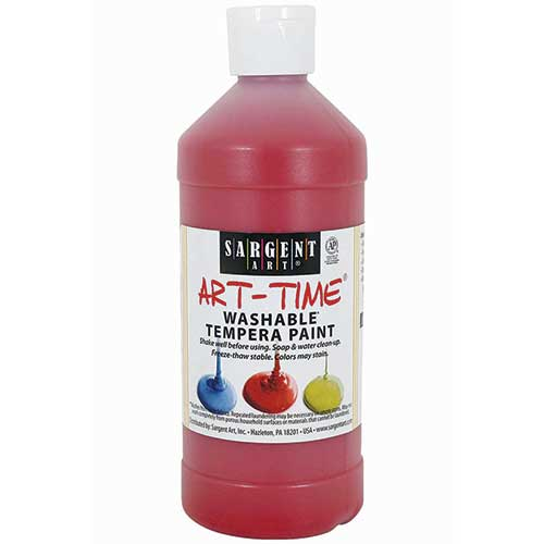 RED WASHABLE TEMPERA 16 OZ