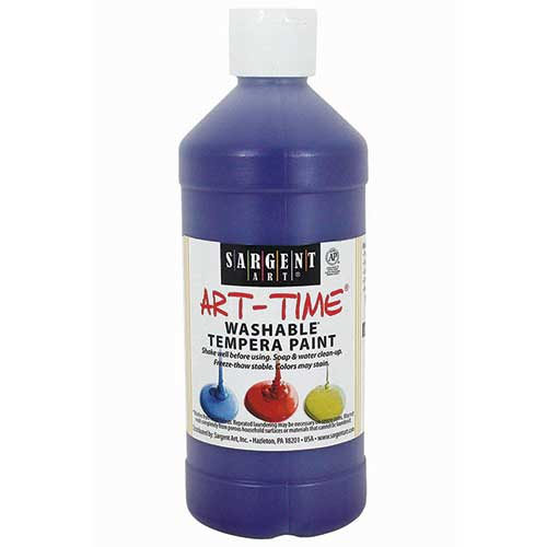 PURPLE WASHABLE TEMPERA 16 OZ