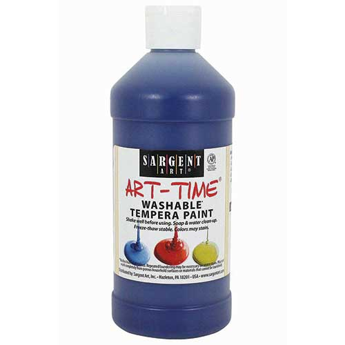 WASHABLE TEMPERA BLUE 16 OZ