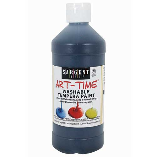 BLACK WASHABLE TEMPERA 16 OZ