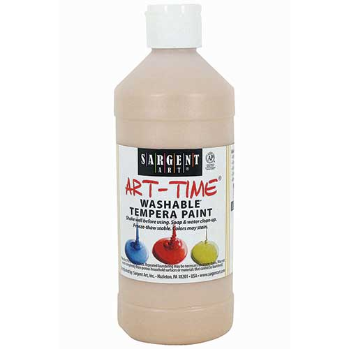 WASHABLE TEMPERA PEACH 16 OZ