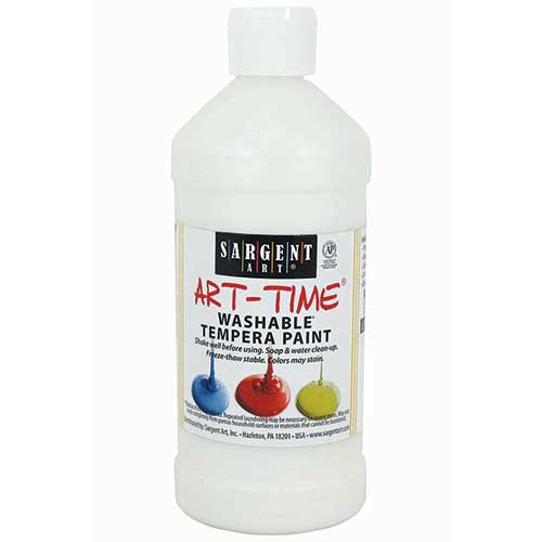 WHITE WASHABLE TEMPERA 16 OZ