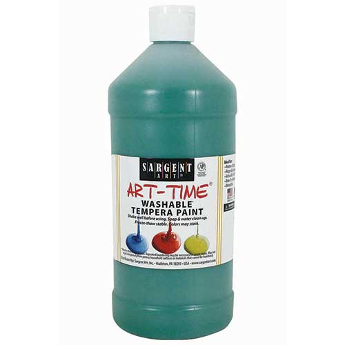 GREEN WASHABLE TEMPERA PAINT 32OZ