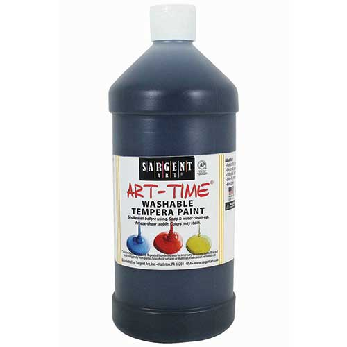 BLACK WASHABLE TEMPERA PAINT 32OZ