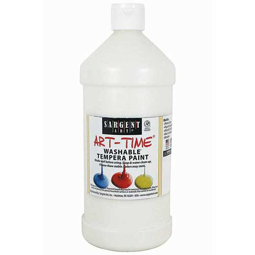 WHITE WASHABLE TEMPERA PAINT 32OZ