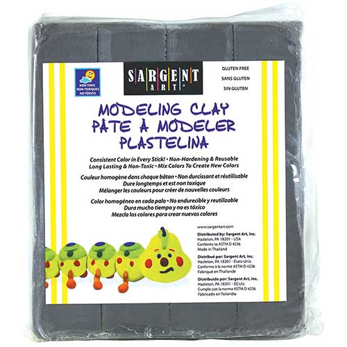 MODELING CLAY PLASTIC GRAY 1 LB BOX
