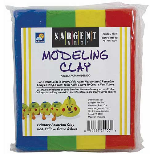 SARGENT ART MODELING CLAY PRIMARY