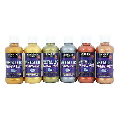 METALLIC TEMPERA PAINT 6PK 8OZ