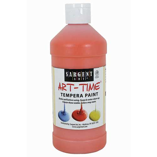 ORANGE TEMPERA PAINT 16OZ