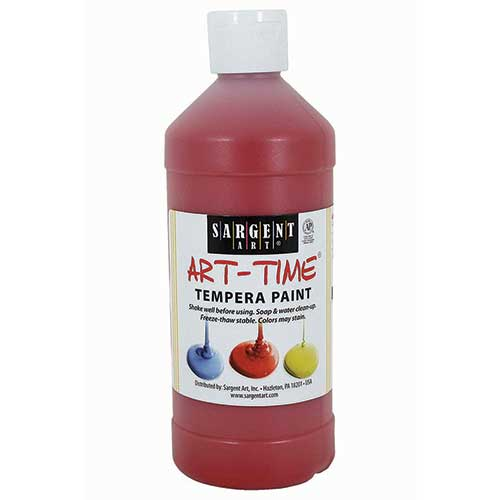 RED TEMPERA PAINT 16OZ