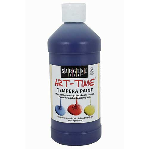 BLUE TEMPERA PAINT 16OZ