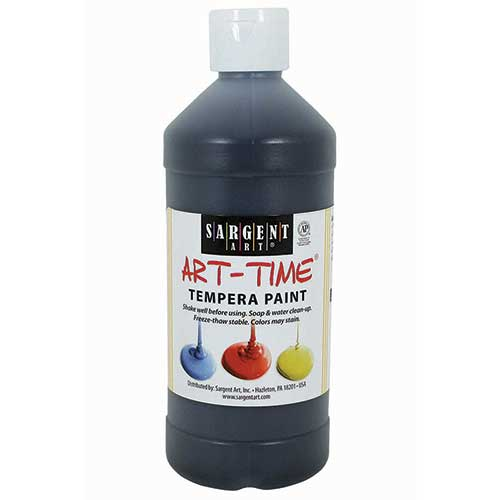 BLACK TEMPERA PAINT 16OZ