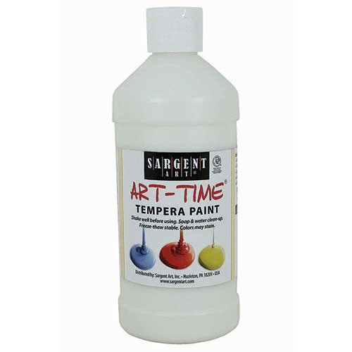 WHITE TEMPERA PAINT 16OZ