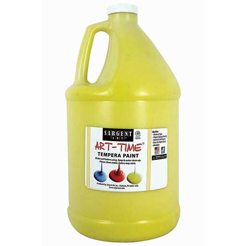 YELLOW TEMPERA PAINT GALLON
