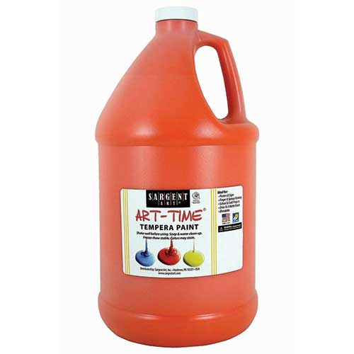 ORANGE TEMPERA PAINT GALLON