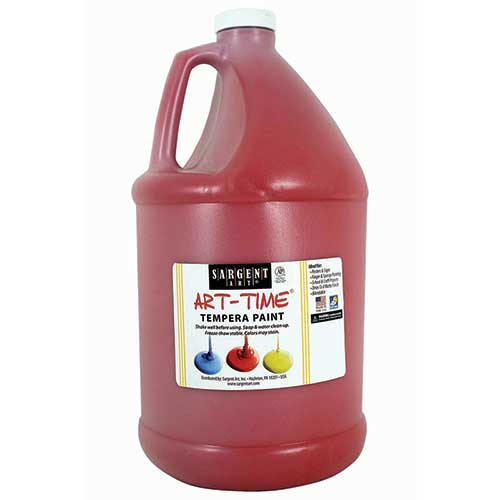 RED TEMPERA PAINT GALLON