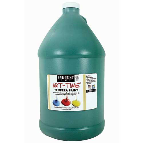 GREEN TEMPERA PAINT GALLON