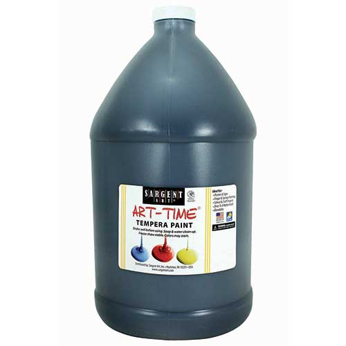 BLACK TEMPERA PAINT GALLON