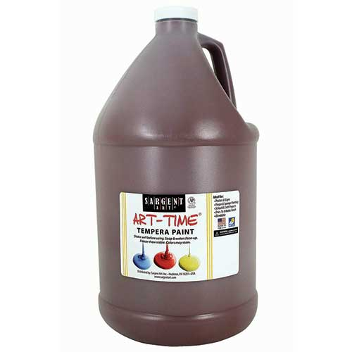 BROWN TEMPERA PAINT GALLON