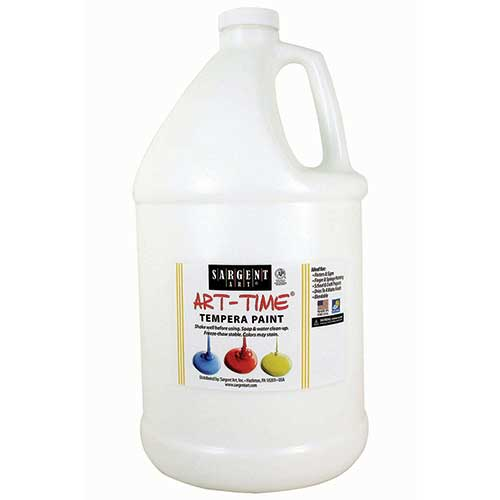 WHITE TEMPERA PAINT GALLON